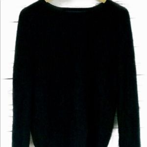 Peck & Peck 2 Ply Cashmere Black Sweater Large